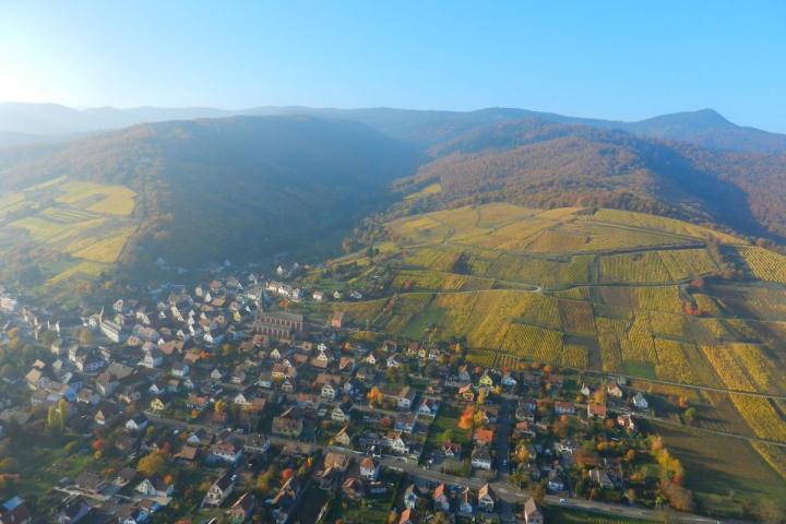 Val Saint Grégoire vu du ciel